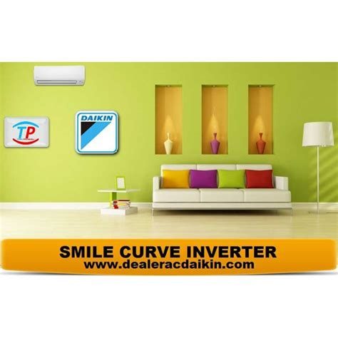 Ac Inverter 1 5 Pk jual ac split daikin smile curve inverter 1 5 pk oleh