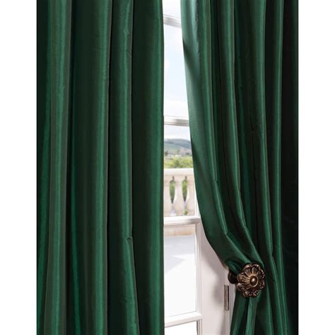 green taffeta curtains emerald green faux silk taffeta curtain panel