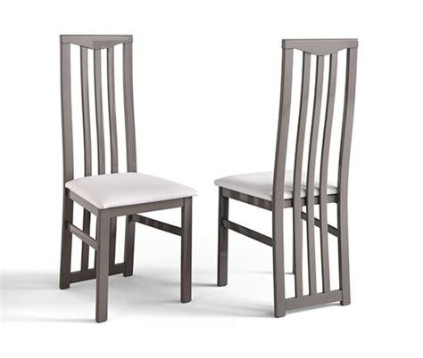 chaise salle a manger gris chaise sejour carla gris