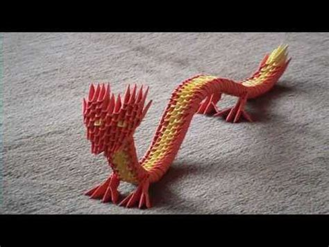 3d origami chinese dragon tutorial 3d origami chinese dragon english youtube