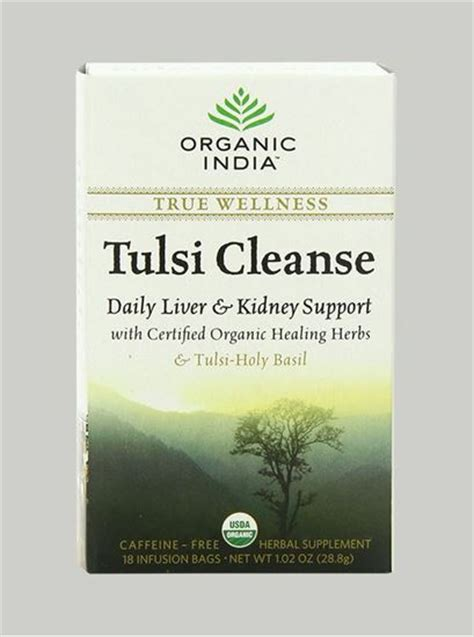 Tulsi Detox by Neulife Store Organic India Tulsi Cleanse Tea 25 Tea Bags