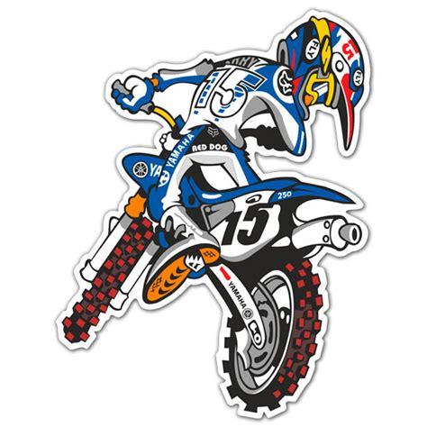 3d Sticker Motorrad by Sticker Yamaha Motocross Muraldecal