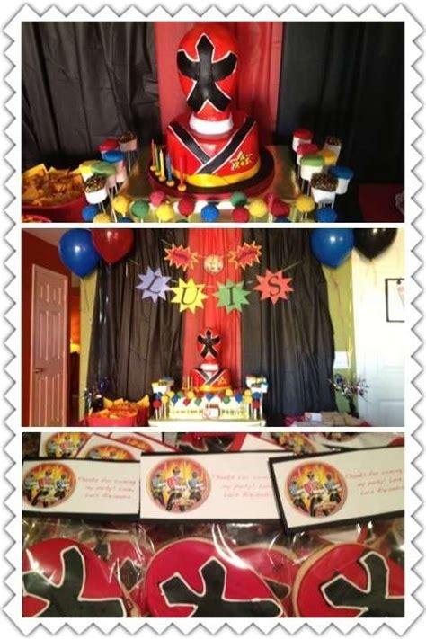 Power Rangers Decorations by Power Rangers Samurai Birthday Ideas Photo 4 Of 5