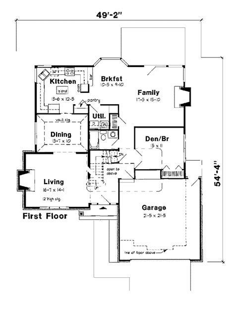 2500 sq ft modern style house plan 3 beds 3 baths 2500 sq ft plan