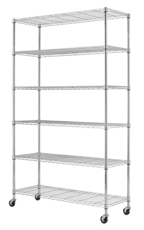 commercial wire shelving commercial 82 quot x48 quot x18 quot 6 tier layer shelf adjustable wire