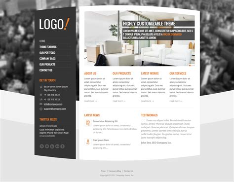 themes wordpress free premium rt themes premium corporate themes