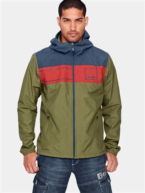 bench for men bench bench hooded mens jacket in green for men olive lyst