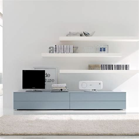 picture of simple ikea besta storage unit floating shelves and modern simple tv unit design