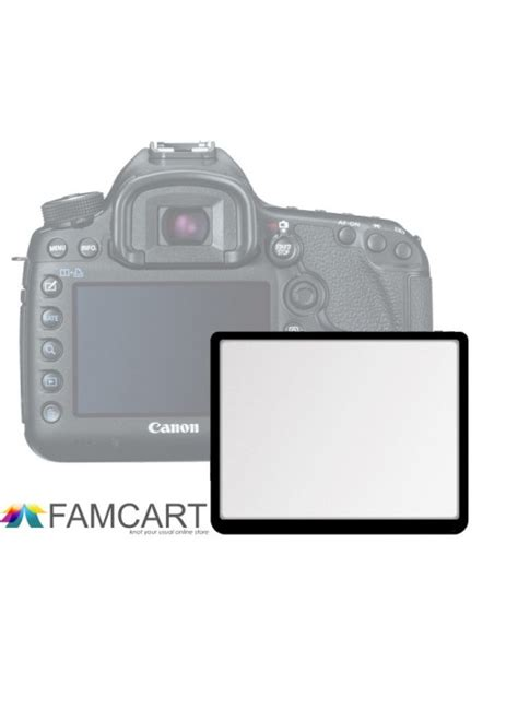 lcd optical glass screen protector for canon eos 450 500d