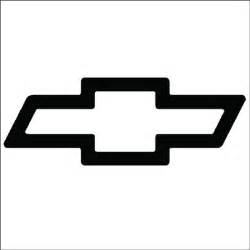 Ticker Symbol For Chevrolet Chevy Bowtie Vinyl Sticker For Your Wall Car Or Truck