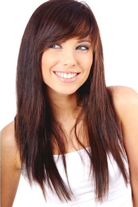 hairstyles for long straight hair with side bangs and layers long straight hair with side bangs hair ideas