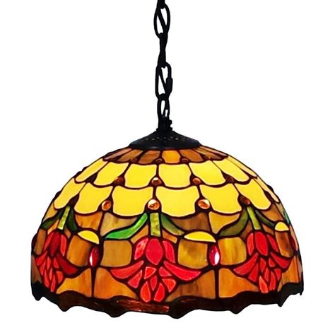 tiffany style hanging l tiffany style floral hanging pendant light l pendants