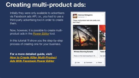 facebook ads api tutorial how to create multi product ads with facebook power editor