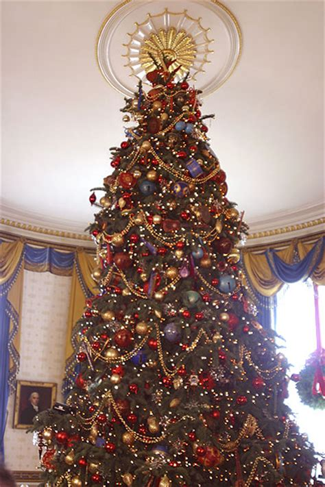 the press viewing the christmas decorations in the grand the official white house christmas tree in the blue room