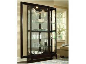 Curio Cabinets With Sliding Doors Dining Room Two Way Sliding Door Curio Cabinet