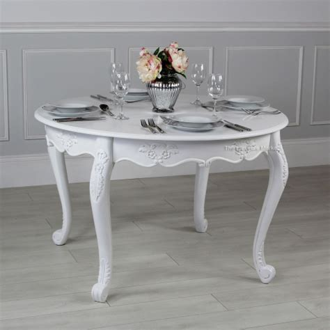 chateau white painted dining table 4 person