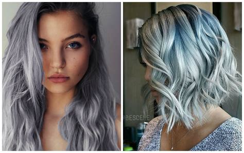 2 Color Hairstyles by 2 Grey Denim Hair Color Trend For 2 Hairzstyle
