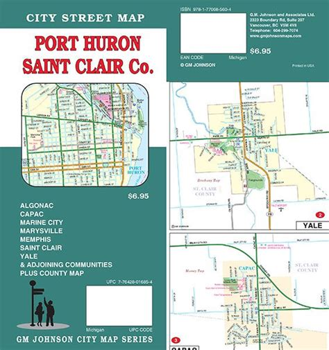 St Clair County Michigan Records Port Huron St Clair County Michigan Map Gm Johnson Maps