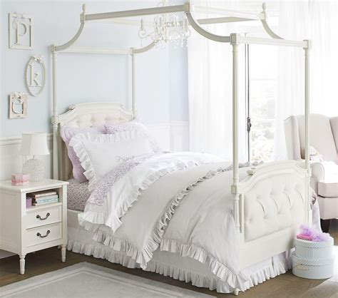 Pottery Barn Canopy Bed by Blythe Tufted Canopy Bed Pottery Barn