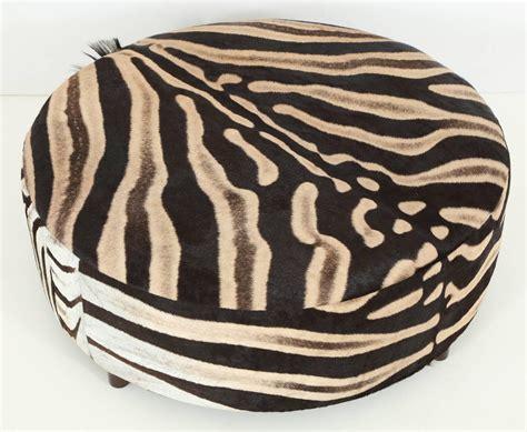 zebra ottomans zebra chair and ottoman zebra ottoman at 1stdibs zebra