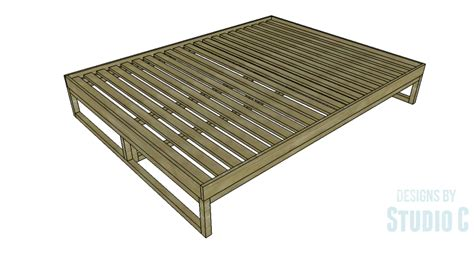 modern bed plans diy plans to build a modern rustic platform bed