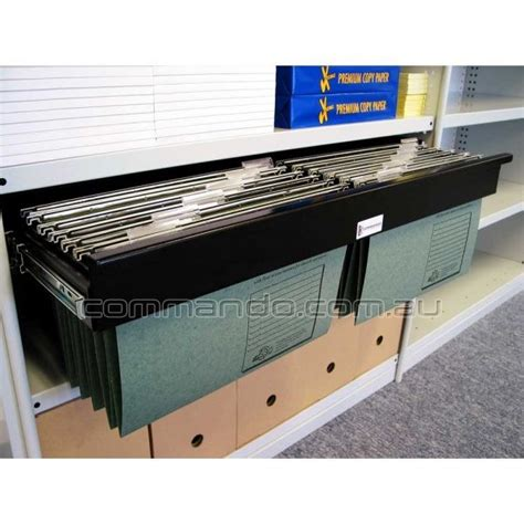 suspension file drawer frame pull out filing frame accessories commando storage systems