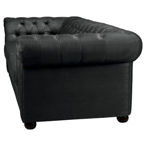 Fabric Chesterfield Sofa Bed Buy Chesterfield Fabric Sofa Bed Black Velvet From Our Sofa Beds Range Tesco