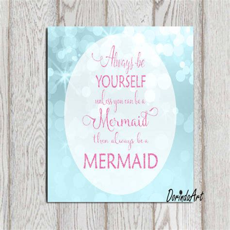 printable quotes on etsy mermaid printable mermaid quote pink from dorindaart on etsy