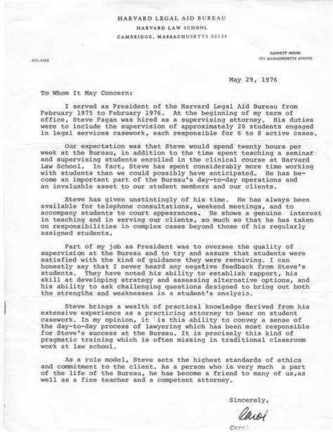 Recommendation Letter Harvard Sle The Stephen Fagan Barbara Kurth Kidnapping And Custody