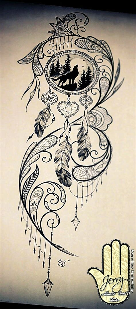 tribal dreamcatcher tattoo designs catcher design pinteres