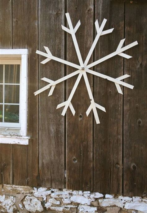 make ahead large glittery white wooden snowflake by