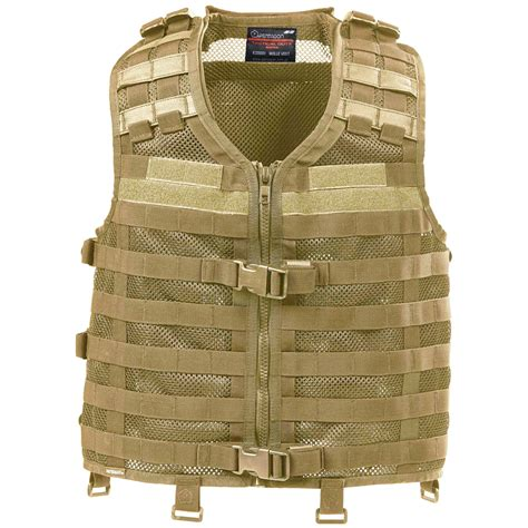 molle vest pentagon thorax tactical combat molle mesh vest airsoft operator coyote ebay