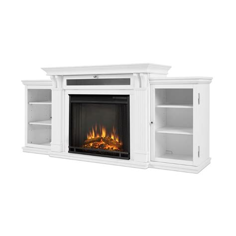real flame calie tv stand  electric fireplace  white