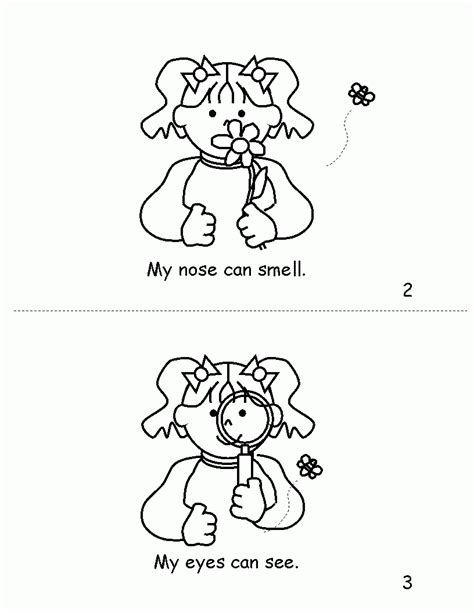 free coloring pages of senses free coloring pages 5 senses coloring home