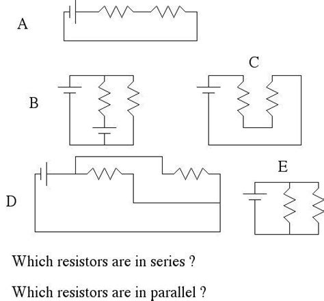 resistors in parallel and series problems physics department brock