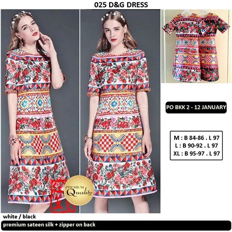 Po Dress Import High Quality Premium A42410 d g dress supplier baju bangkok korea dan hongkong premium quality import thailand