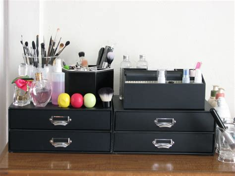 black makeup desk with drawers cosmetic storage containers best storage design 2017