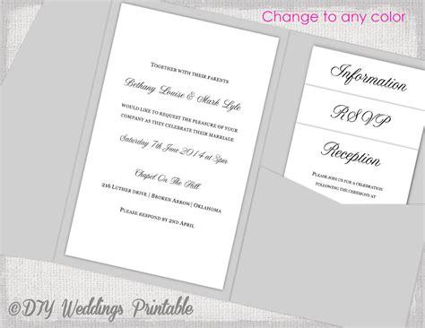 diy wedding invitation kits ireland pocketfold wedding invitations marina gallery