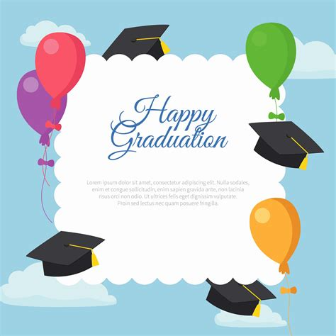 Happy Graduation Card Template by Happy Graduation Card Template Free Vector