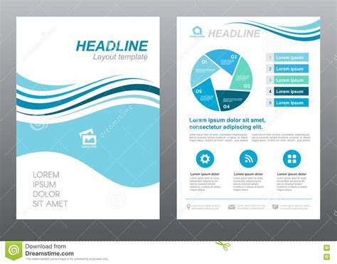 a4 layout design free layout flyer template size a4 cover page blue wave style