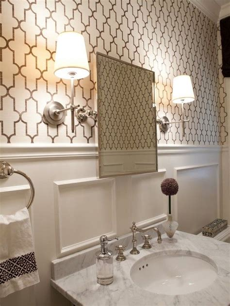Bathroom Wallpaper Patterns Powder Room Grasscloth Bathroom Design Pictures Remodel Decor And Ideas Page 2 All About