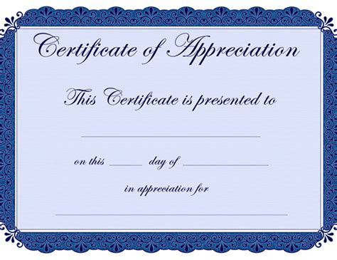 certificate of appreciation templates sleprintable com