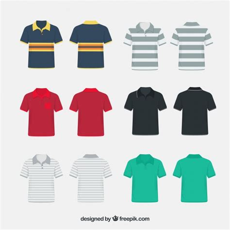 pattern polo shirts vector miscelaneous pattern polo shirt collection vector free