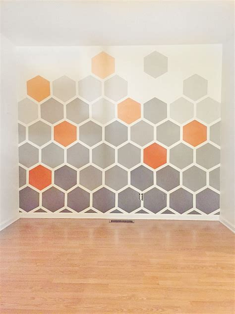 pattern for a wall diy ombre hexagon wall thistlewood farm