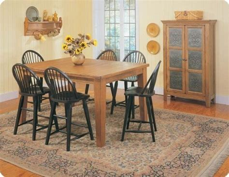 broyhill attic heirlooms counter table in oak