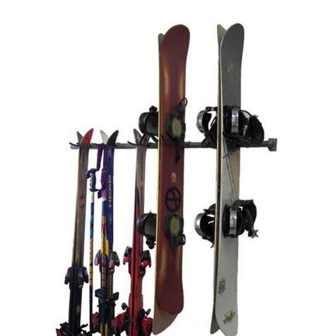Snow Ski Rack by Monkey Bars Garage Ski Rack Ski And Snowboard Racks