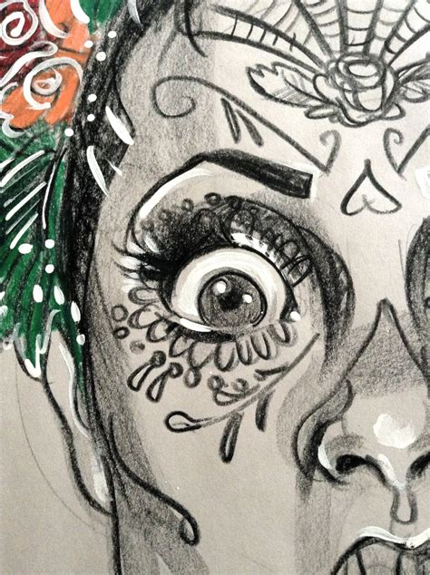 draw a sugarskull tutorial katarina thorsen poststreet