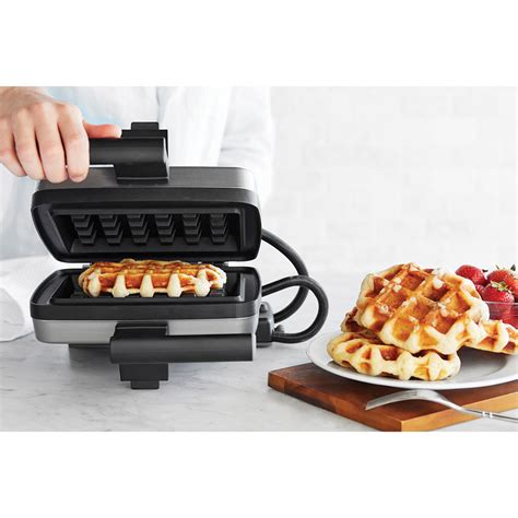 best belgian waffle maker the authentic belgian waffle maker hammacher schlemmer