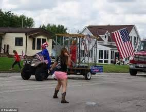 Democrats Slam Mean Parade Float Depicting Hillary Indiana Drives Parade Float Showing President