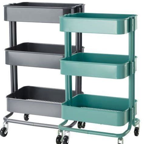 ikea rolling cart amazon com ikea raskog kitchen cart turquoise raskog